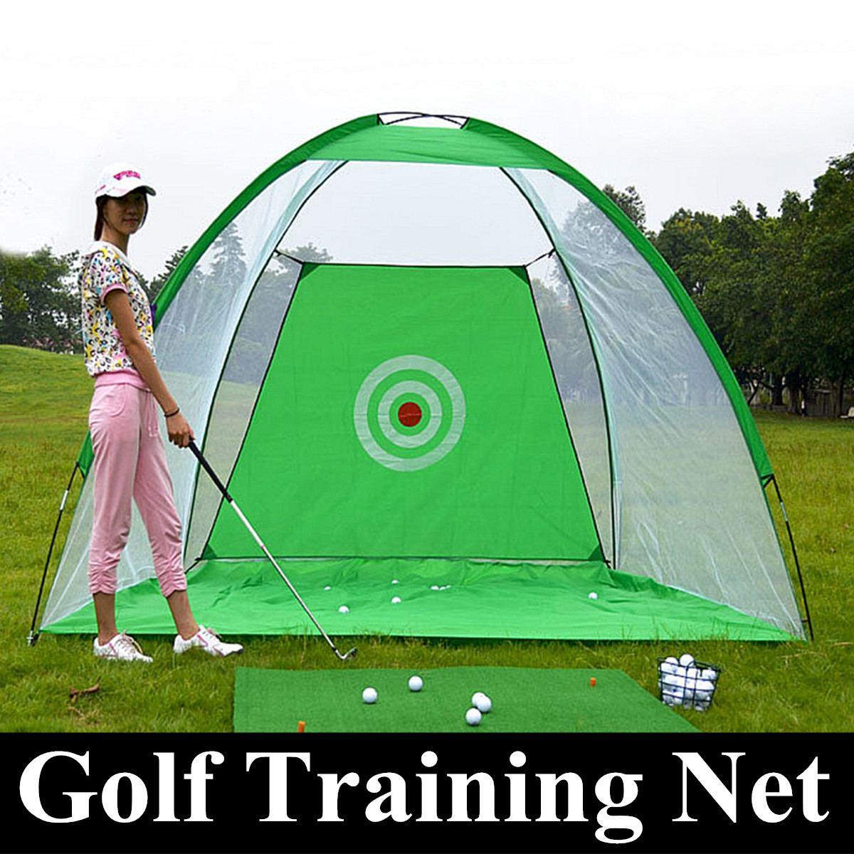 Red de entrenamiento de Golf de 1 M/3 M Red de práctica plegable Red de astillado que pega la jaula entrenador interior/exterior pradera Golf equipo de ayuda