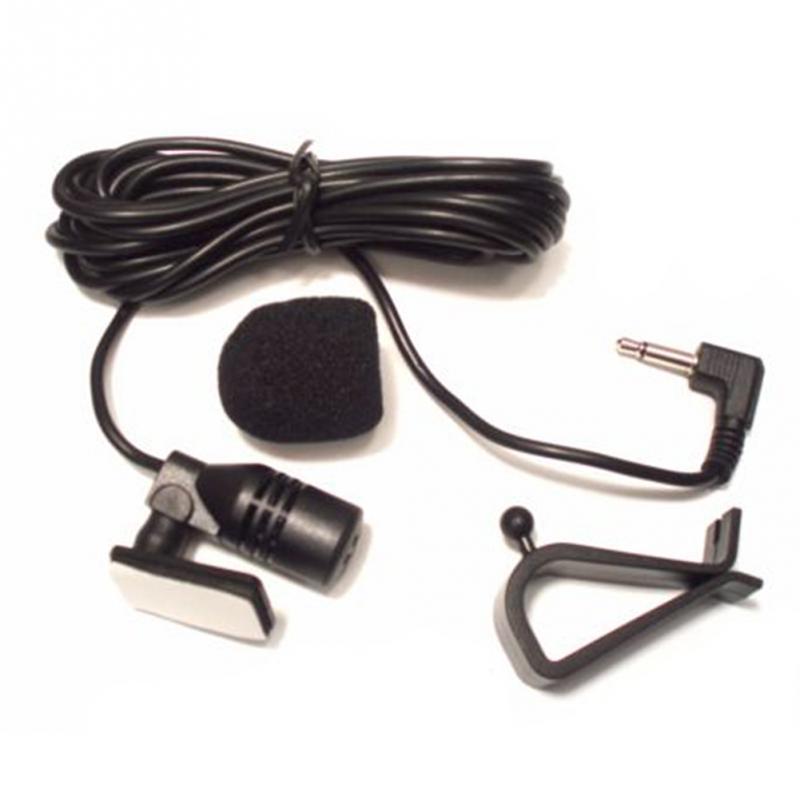3.5mm Black 50Hz-20KHz External Mic GPS Audio Stereo Microphone Car Portable Bluetooth Car-mounted microphone