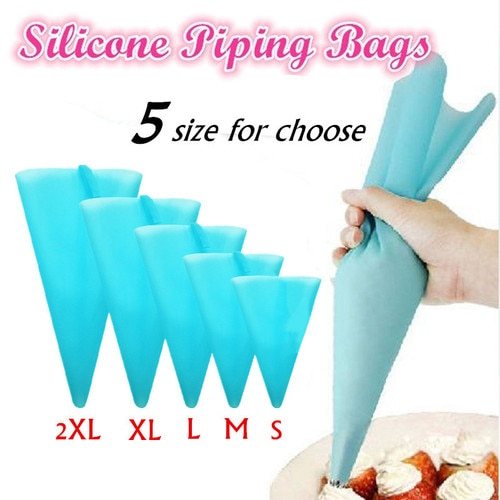 Cream Pastry Bag Confectionery Silicone Icing Piping Nozzle DIY Cake Decorating Baking Tools Dropship