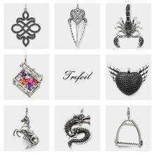 Scorpion Spearhead Horse Dragon wisiorki, biżuteria 925 Sterling Silver Punk prezent dla kobiet mężczyzn Boy Girls Fit naszyjnik