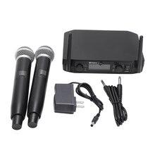 Micrófono inalámbrico Fm Vhf inteligente 2 micrófono de mano inalámbrico de frecuencia libre para reunión