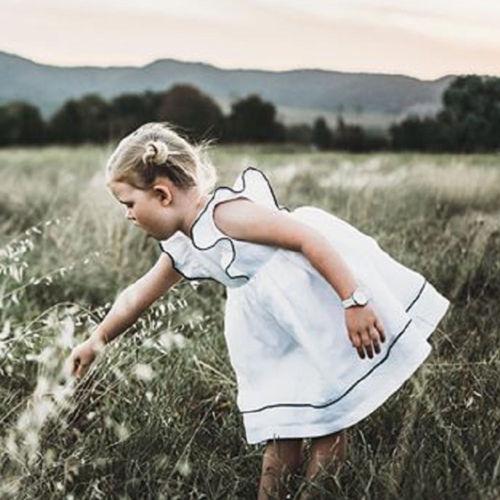 Vestido blanco Pudcoco para niñas pequeñas, niño pequeño, Chico, ropa de niña, vestidos con volantes, vestido de fiesta de princesa, tutú, Verano