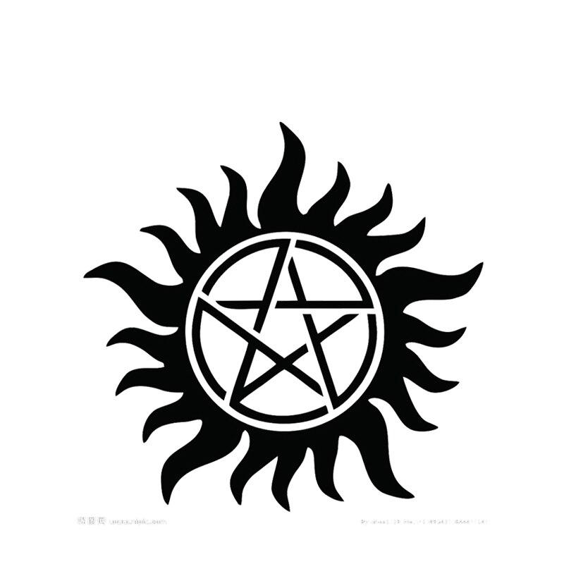 Super natural Dean Cosplay Anime dibujos animados Logo Props impermeable dibujos animados Logo tatuajes temporales pegatinas XR179