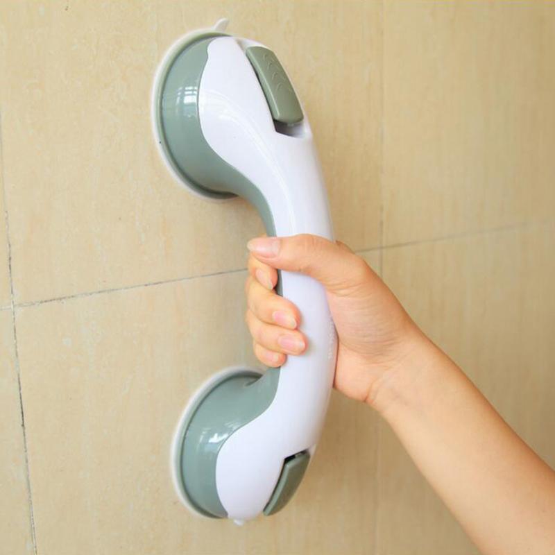 Новые часы с чашкой на присоске для ванной с ручкой для душа, защитная чашка для ванной, стеклянная дверь, противоскользящие поручни для ванной комнаты
