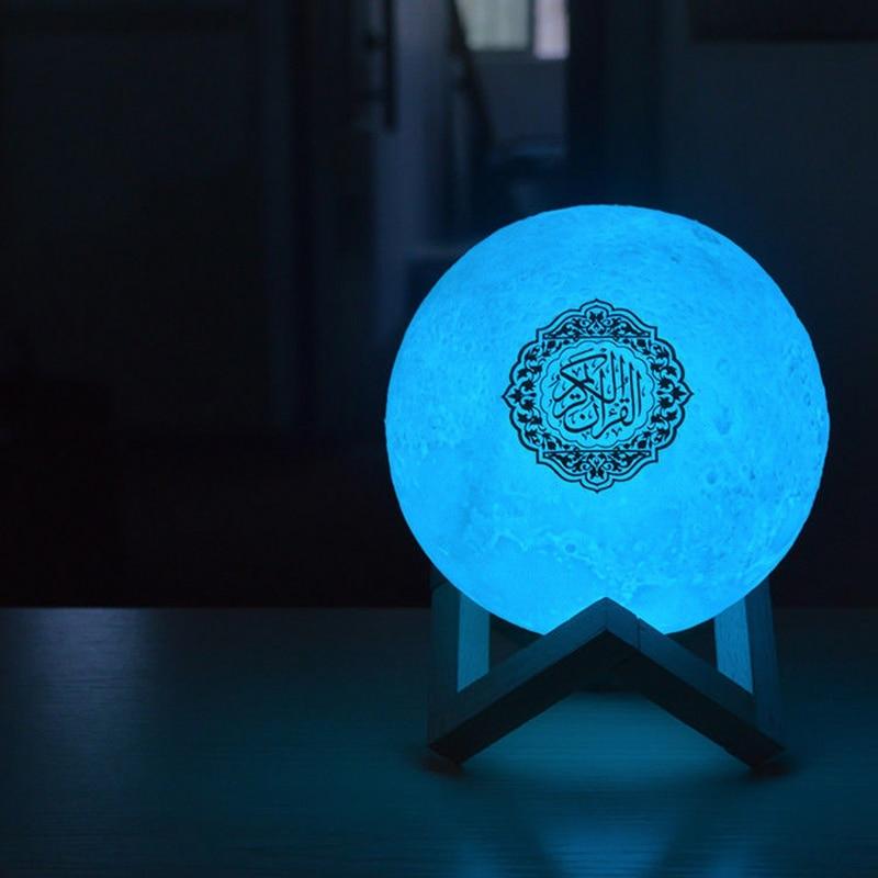 7 цветов 3D Moonlight Quran динамик Coran плеер беспроводной Bluetooth пресс-лампа