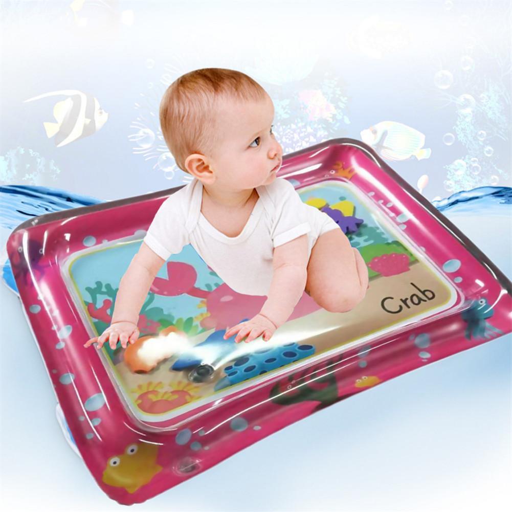 Colchoneta para gatear con agua para bebé, colchoneta inflable roja de PVC, colchoneta de juguete de doble uso, alfombrilla inflable para bebé, colchoneta para dormir, colchoneta para jugar