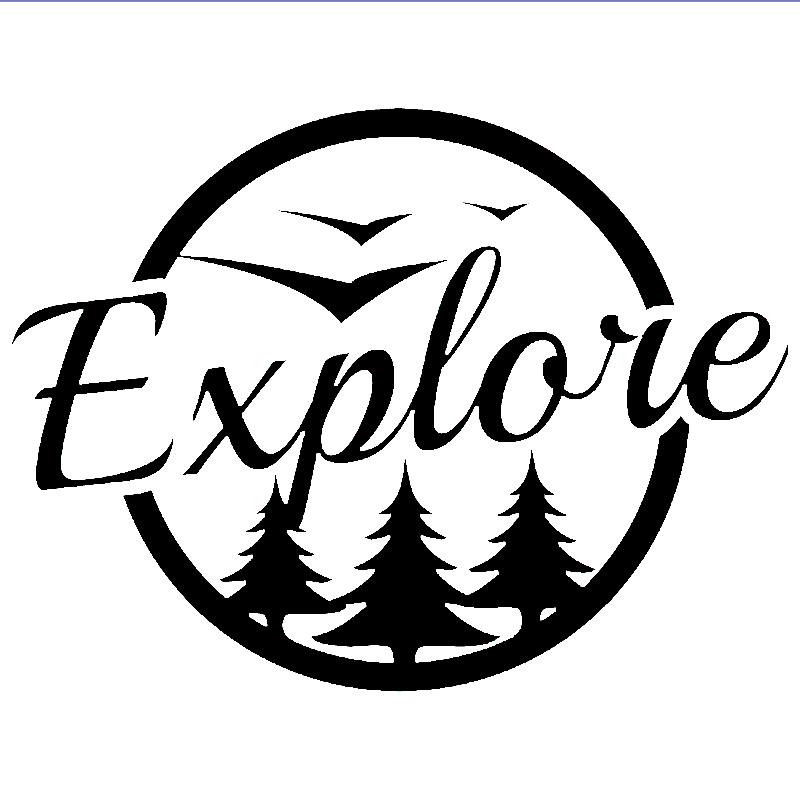 Explorar a Aventura de Viagem De Acampamento Vinyl Decal Adesivo Ideal para Ônibus Carro Laptop Etiqueta Da Janela Traseira Do Carro
