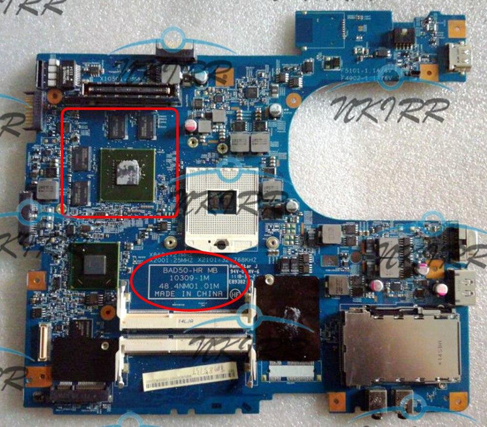 BAD50-HR MB 10309-1M 48.4NM01.01M MBV4D01001 MB.V4D01.001 اللوحة الأم لشركة أيسر ترافل ميت TimelineX 8573T 8573TG 6595T 6593G