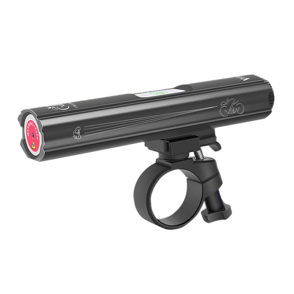 Bicicleta faro láser USB carga láser luz de advertencia distancia proyección lámpara advertencia luz frontal Kit de ciclismo