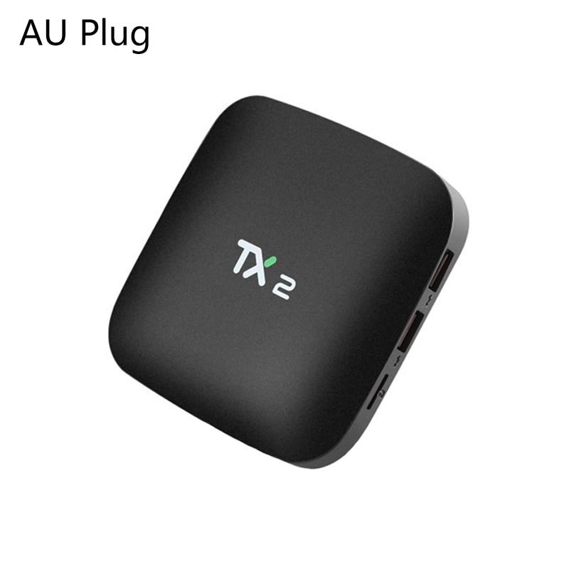 OPQ-2018 TX2 2GB + 16GB Rockchip RK3229 Android 6,0 caja de TV WiFi reproductor de medios es macho