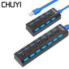 4/7 porty USB Hub 3.0 z ue/AU/US/UK zewnętrznego zasilania 5 gb/s USB 3.0 rozgałęźnik Hub z On/Off przełącznik na akcesoria pc