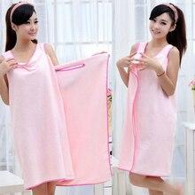 Summer Ladies Towel Sexy Bath Towel Ultrafine Fibers Can Wear Absorbent Towels Women Super Soft Wrap Chest Bathrobe Beach Towel