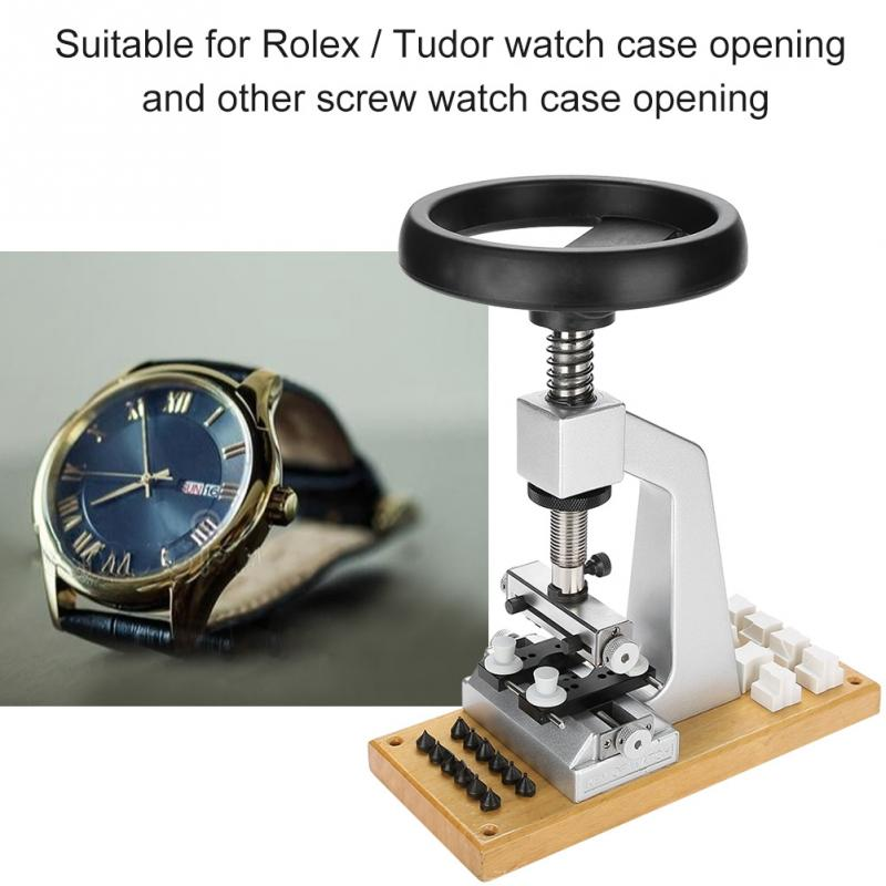 5700 # Banco Relojoeiro Repair Tool Assista Case Opener Com Base de Metal para Rolex/Tudor assista reparação ferramentas para relojoeiro um