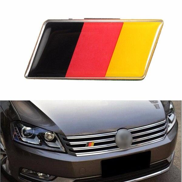 Bandeira alemã universal grade dianteira pára-choques etiqueta do carro emblema emblema para vw/audi/honda/benz