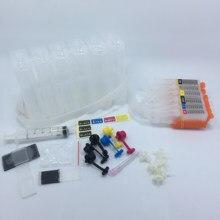 YOTAT 6color CISS ink cartridge PGI650 PGI-650 CLI-651 for Canon PIXMA MG6360 MG7160 (Australia)