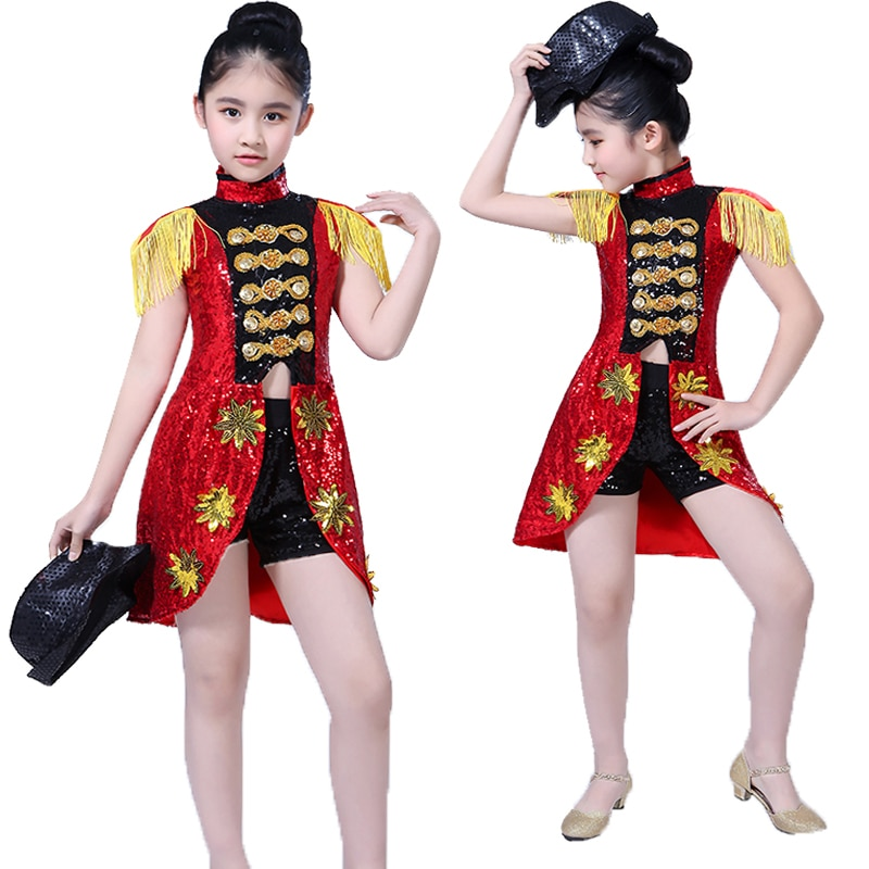 New Children's Jazz Dance Costumes Boys Modern Dance Street Dance Costumes Girls Sequins Jazz Dance Costumes Jazz Costumes
