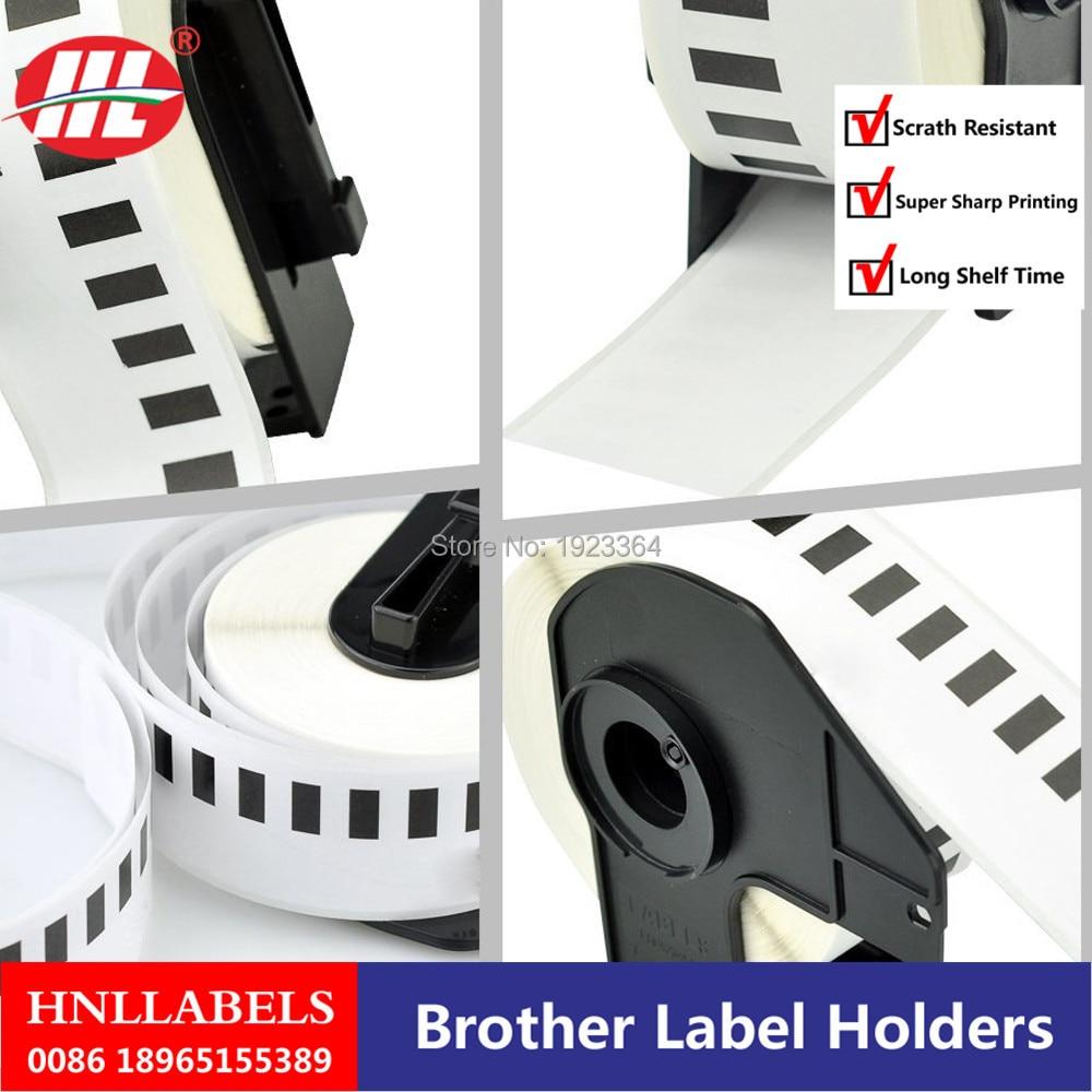 4X rollos Brother DK-22210 DK22210 DK-2210 DK210 210 etiquetas compatibles Brother etiquetas de papel continuo, DK 22210