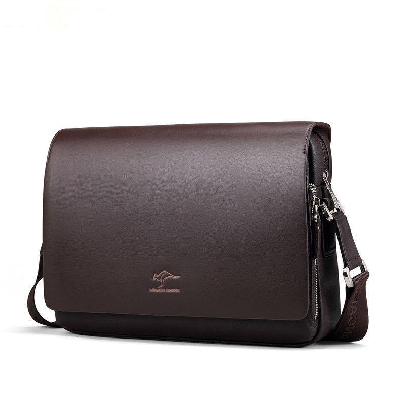 Gran oferta 2019, bolsos de mensajero de piel suave para hombre, gran promoción, bolso de hombro de piel tipo canguro, maletín informal HT03