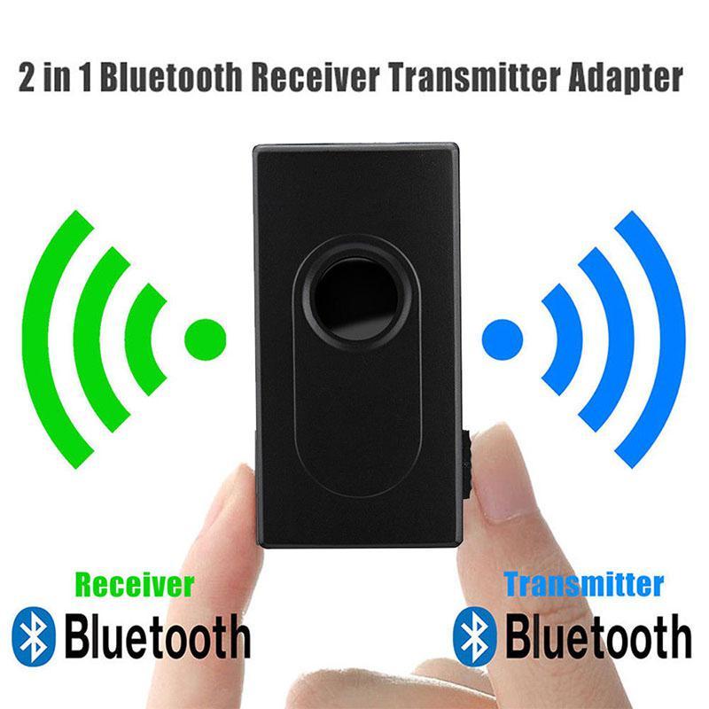 Adaptador de Audio estéreo 2 en 1 Bluetooth Transmisor receptor inalámbrico de 3,5mm con aptX y aptX para TV DVD Mp3 D15