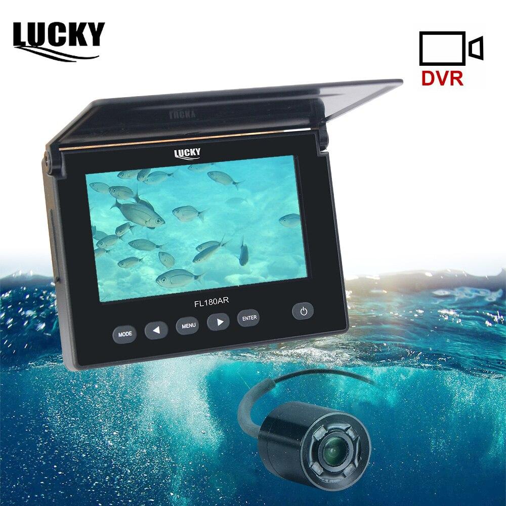 Détecteur de poisson chanceux pêche sous-marine sur glace Kit de caméra vidéo 20M câble détecteur de poisson caméra de pêche IR Vision nocturne 4.3