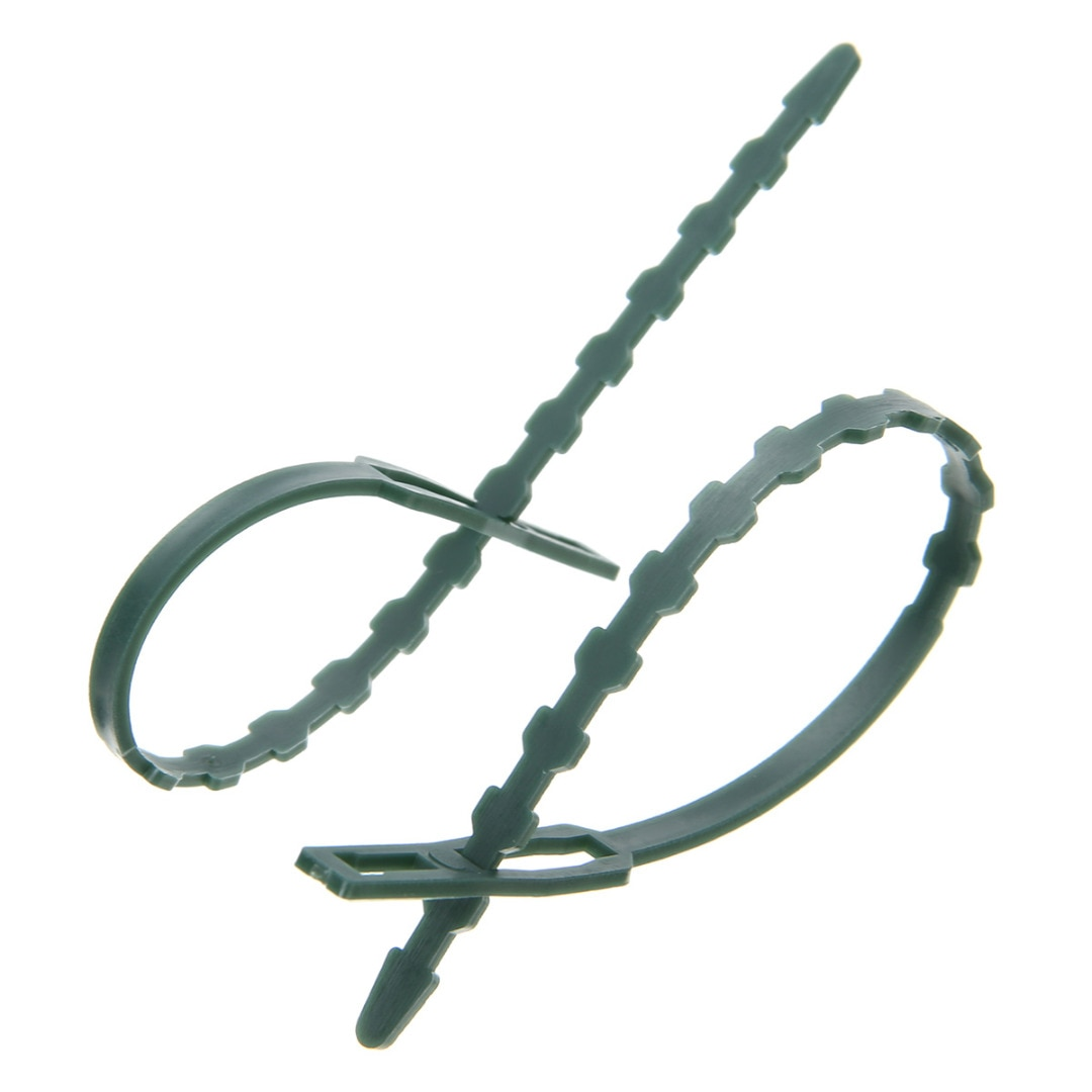 50 Uds., cuerda ajustable, reutilizable, ajustable, de plástico, para jardín, planta, ataduras de Cable, soporte para escalada, gancho de amarre fijo
