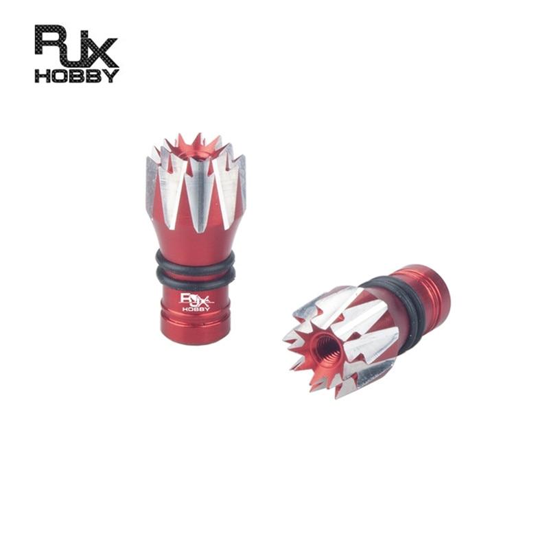 1 par RJXHOBBY M2.5 transmisor Gimbal Stick Ends estilo para FrSky Taranis x-lite RC transmisor modelos Drone repuestos Accs