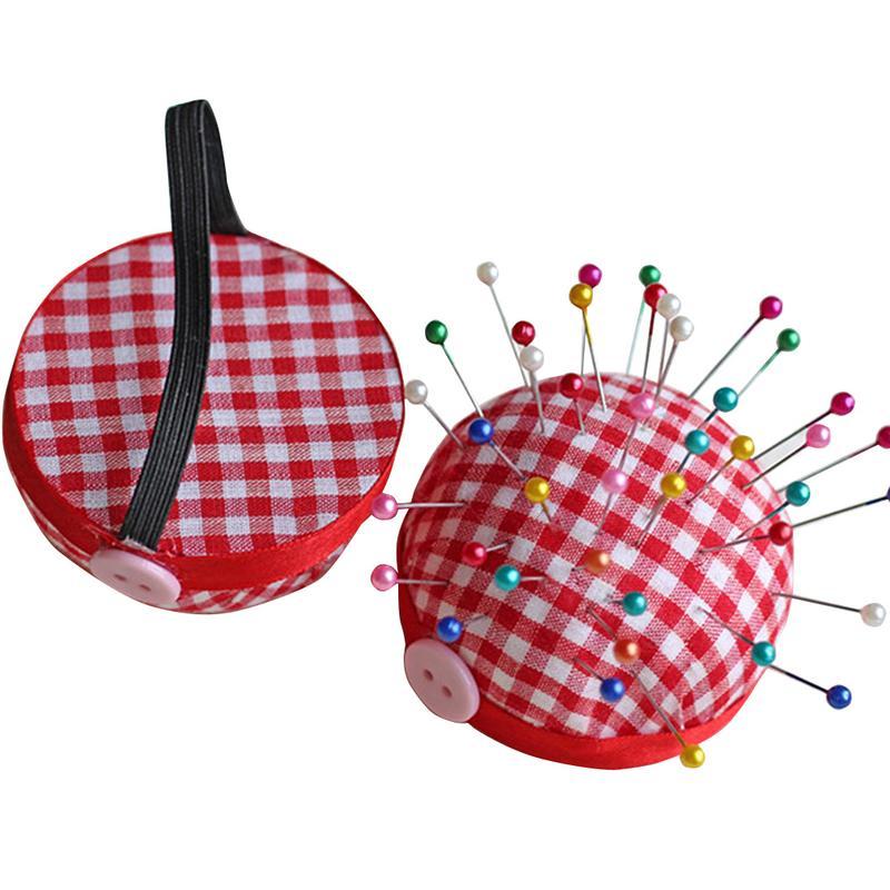 1pcs Wood Bottom Base Needle Pin Cushion Pillow Holder Sewing Craft Stitch Needlework DIY Craft Sewing Tool