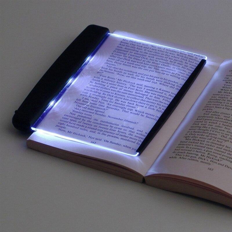 Criativo led livro luz de leitura luz da noite placa plana painel viagem carro portátil lâmpada mesa led para casa