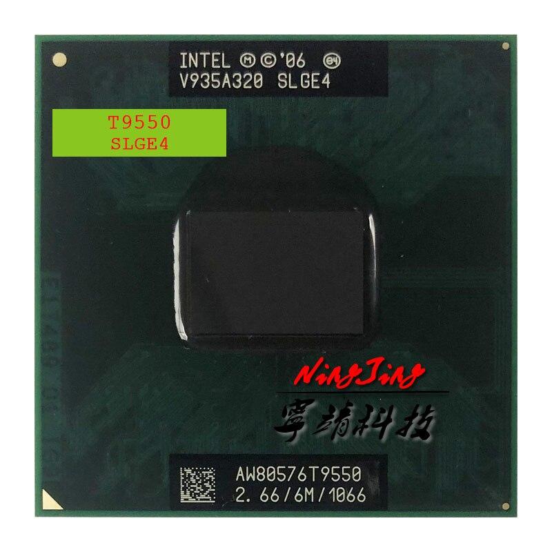 Intel Core 2 Duo T9550 SLGE4 2,6 GHz Dual-Core Dual-Gewinde CPU Prozessor 6 M 35 W buchse P