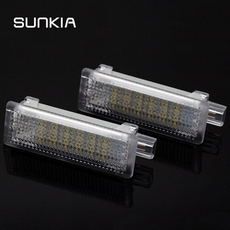 SUNKIA 2 шт./компл. Светодиодная лампа освещения подножки для BMW E65/E66/E67/E68 бардачок светильник косметическое зеркало лампа Z4/E85/E86 E90/E91/E92/E93/ F20