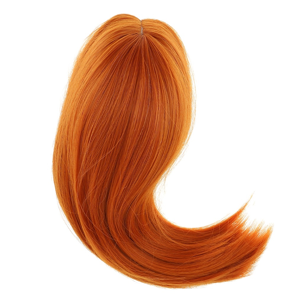 6 Colors DIY Hair 28cm Hair Doll Wig for 18'' American Dolls Accessories Handmade Making Wig For Baby Dolls Yellow Brown