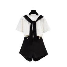 new summer fashion leisure knitting top & chiffon shorts wide-legged short pants two pcs casual suits women clothing set vestido
