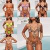 Sexy Tanga brasileño Set Bikini vendaje Push Up traje de baño Maillot de Bain Micro Bikini Maid 2019 Mujer traje de baño nadar