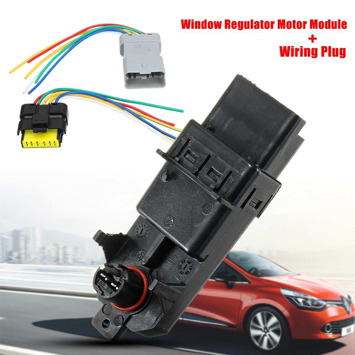 Módulo regulador elevador de ventana eléctrico para coche, módulo regulador de cableado, arnés de enchufe para Renault Clio/Espace/Grand Scenic/Megane/Scenic