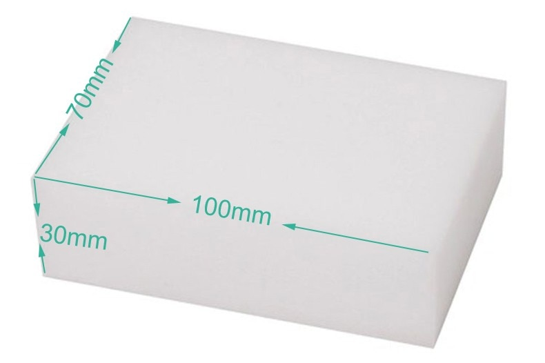 10pcs/10*7*3cm magic clean melamine sponge eraser, bathroom & kitchen assessoires dish washing melamine sponge nano eraser
