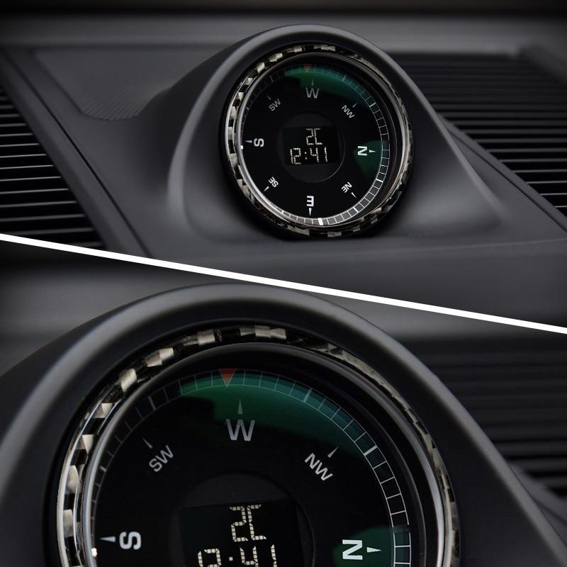 For porsche macan Accessories carbon fiber Clock Panel condition frame sticker car-styling Automotive interior 2014-2018 1PCS