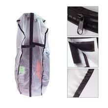 120x60 cm 방수 골프 클럽 가방 비 후드 방진 쉴드 커버 지퍼 pvc 골프 레인 커버 골프 가방 야외 케이프 지우기