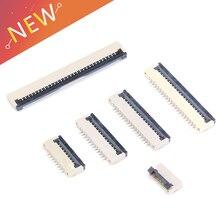 10pcs 클램 쉘 소켓 아래 1mm 피치 FPC FFC 플랫 케이블 커넥터 4P 5P 6P 8P 10P 12P 14P 16P 20P 22P 24P 30P 34P