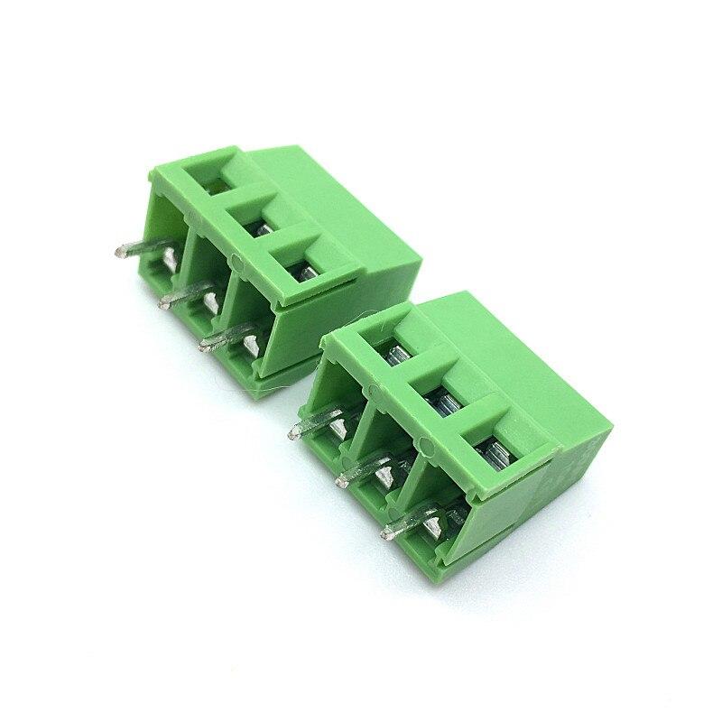 100pcs Whoelsale 5 milímetros 2 Pinos 3Pin PCB Terminal de Parafuso Bloco Conectores 300V 10A DG128 KF128 KF128-2P KF128-3P passo 5.0MM/0.2 polegada