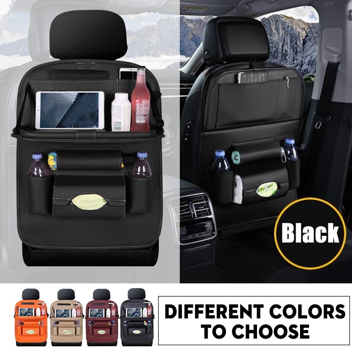 Soporte plegable para taza de coche, organizador Interior para coche, asiento para vehículo multifunción, soporte para teléfono, soporte para bebidas, cajas para comida
