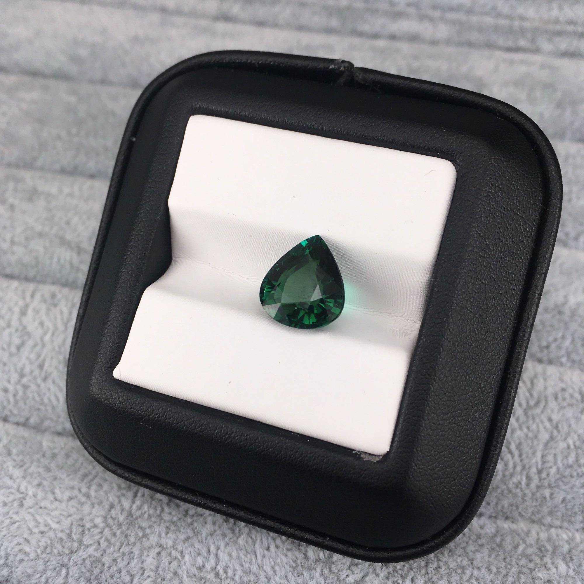 MELE الطبيعية تورمالين أخضر لصنع المجوهرات ، 10.5X11.8X6.8mm الكمثرى قطع ، 5.25ct أحجار كريمة مفكوكة للحلقة أو قلادة ميان ستون