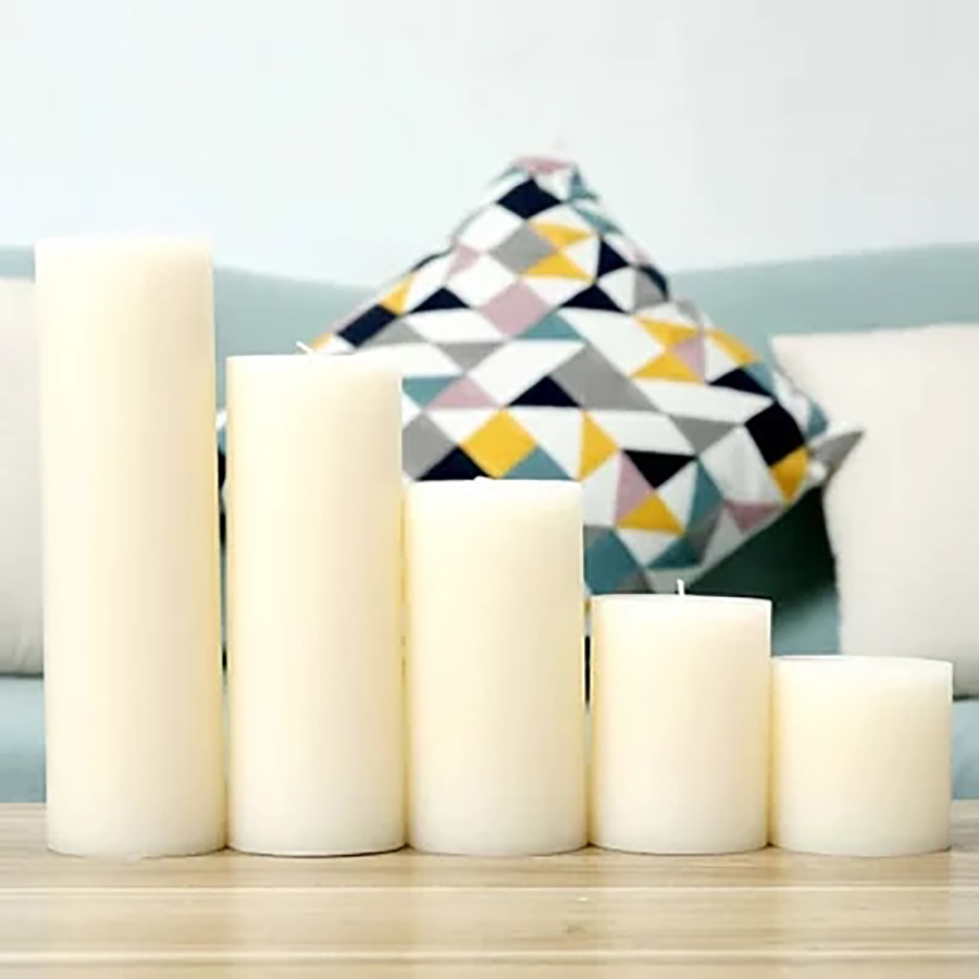 Cera blanca luz nueva vela regalos de boda, Navidad, decoración de luces de Velas, Velas Decorativas cumpleaños Holloween feliz 50X033
