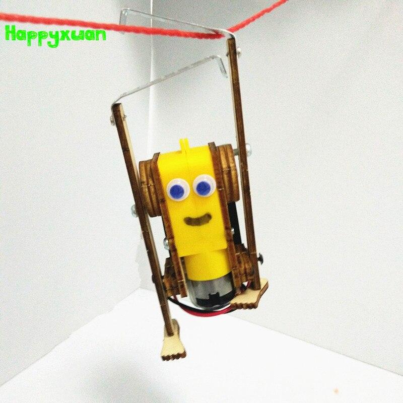 Happyxuan DIY Электрический робот веревка для скалолазания детские развивающие игрушки Стволовые Обучающие физики Набор для экспериментов школьный проект