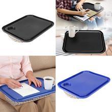 Support de plateau de verre pour ordinateur   Coussin de lit Portable, genoux de genou, oreiller pour bureau, livraison directe