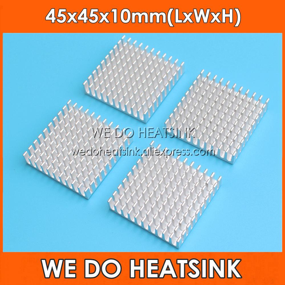 NÓS DISSIPADOR de Prata 45x45x10mm de Alumínio do Dissipador de Calor Do Radiador Cooler Para AMD, CPU, IC Transistor, PCB