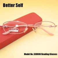 Reading Glasses Women Half Rim Spectacles Free Case Gift For MoM Beautiful Eyeglasses XX8006