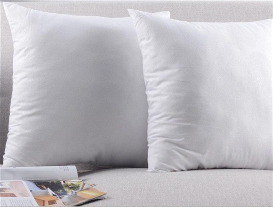 Oreiller blanc noyau de chambre à coucher salon oreiller carré coussin intérieur point de croix insérer noyau 45*45cm 3