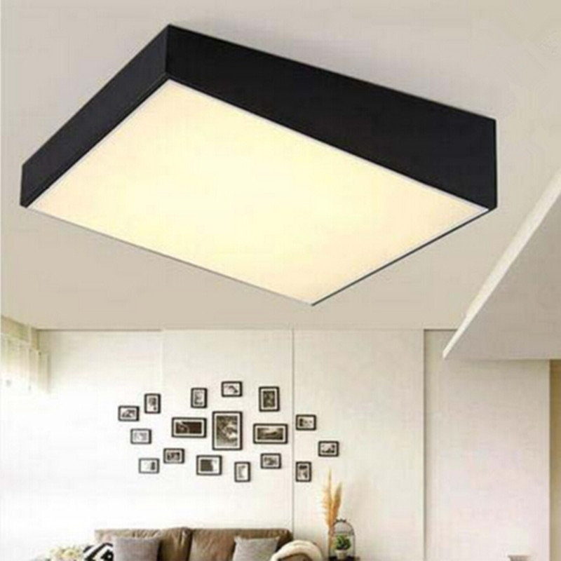 luz de teto moderna lampada led ferro cozido pintura trapezoidal corpo acrilico painel