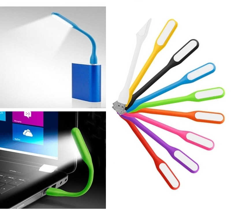 2019 nuevo Mini creativo USB Luz led de libro verano Flexible plegable lámpara led usb Banco de la energía de ordenador portátil 5V 1,2 W Dropship