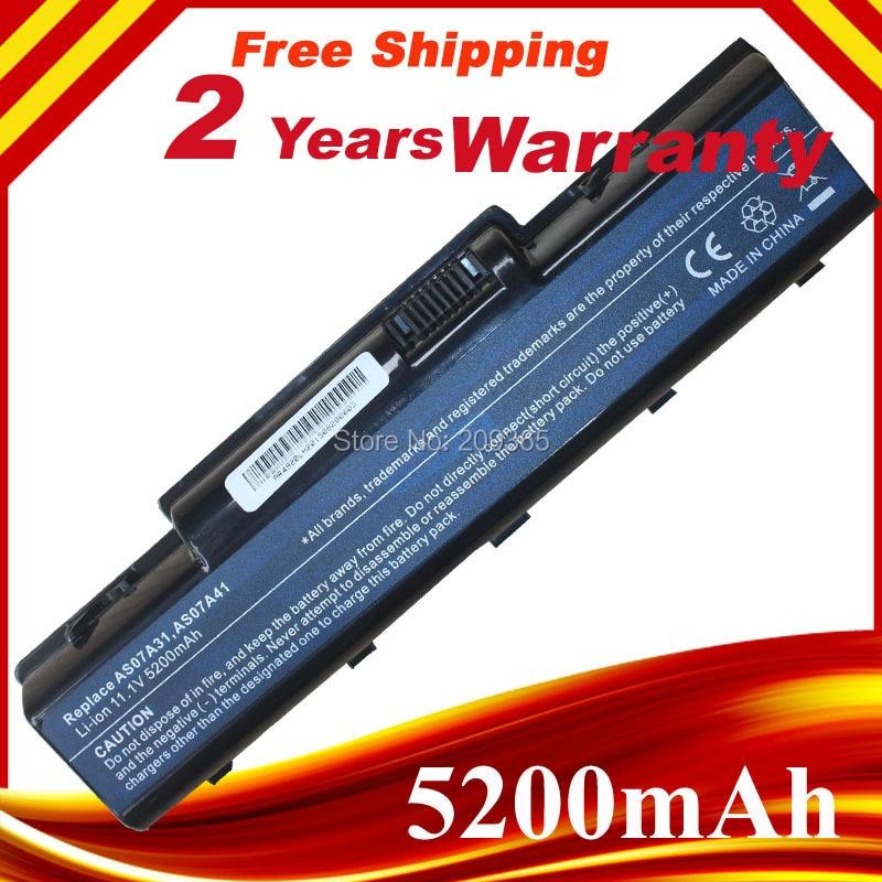 Batería para ordenador portátil, AS07A31 AS07A41 batería para ASER Aspire 4720 4730...